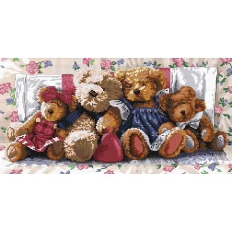 Медвежья семейка Набор для вышивания Белоснежка