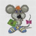 Учёный мышонок Набор для вышивания Белоснежка