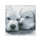 Два белых щенка Набор для вышивания Белоснежка