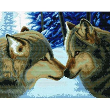 Два волка Набор для вышивания Белоснежка