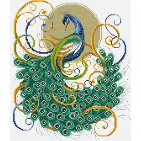 Изумрудный павлин Набор для вышивания Белоснежка