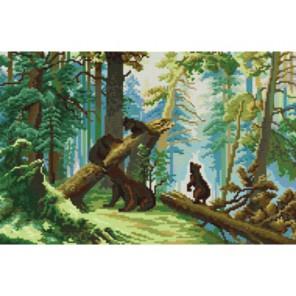 Утро в сосновом лесу Набор для вышивания Белоснежка