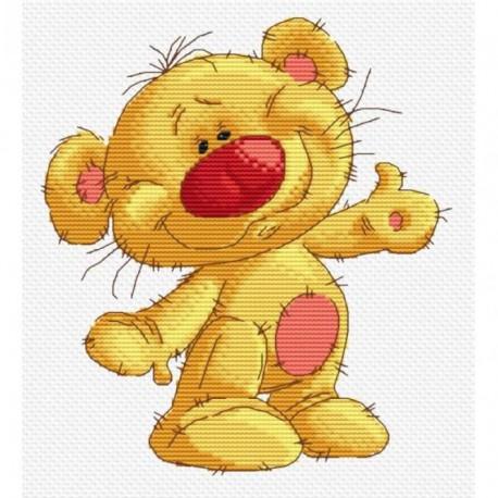 Привет Медвед Набор для вышивания Белоснежка