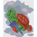 Черепаха с зонтиком Набор для вышивания Белоснежка
