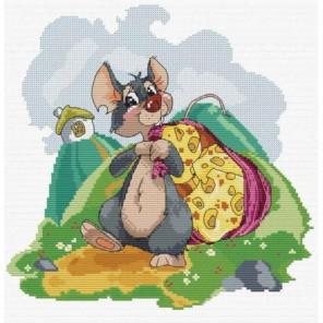 Мышка с сыром Набор для вышивания Белоснежка
