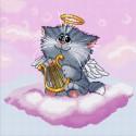 Котёнок+ангелочек Набор для вышивания Белоснежка