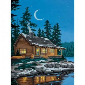 Хижина у озера 91413 Раскраска по номерам Dimensions