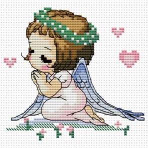 Ангелочек с сердечками Набор для вышивания Белоснежка
