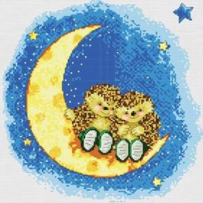 Ёжики на луне Набор для вышивания Белоснежка
