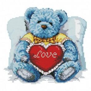 Медвежонок с сердцем Набор для вышивания Белоснежка