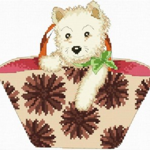 Щенок в сумке Набор для вышивания Белоснежка