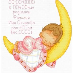 Метрика для малыша Набор для вышивания Белоснежка