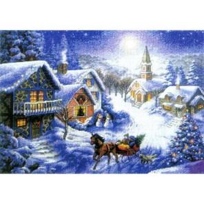 Зимнее раздолье Набор для вышивания Белоснежка