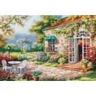 Цветущий сад Набор для вышивания Белоснежка