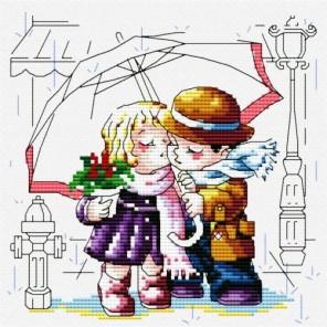 Романтика под зонтиком Набор для вышивания Белоснежка