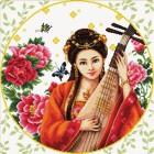 Девушка с лютней Набор для вышивания Белоснежка