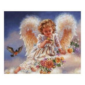 Ангел с птичками Набор для вышивания Белоснежка