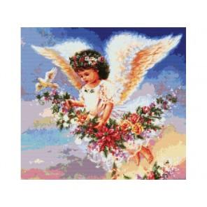 Ангел с голубем Набор для вышивания Белоснежка