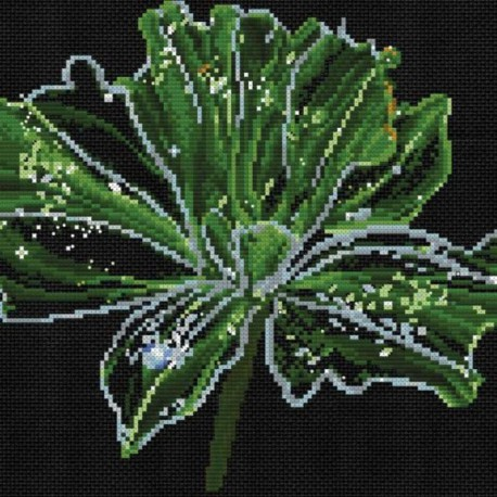 Неоновый цветок Набор для вышивания Белоснежка