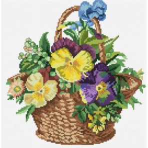 Цветочная корзинка Набор для вышивания Белоснежка