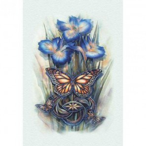 Бабочки и ирисы Набор для вышивания Белоснежка