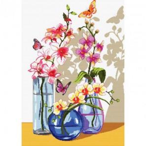 Орхидеи и бабочки Набор для вышивания Белоснежка