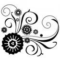 Цветочные завитки Штамп прозрачный для скрапбукинга, кардмейкинга Inkadinkado