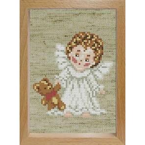 Ангелочек с мишкой Набор для вышивания Белоснежка