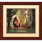 Лошадь с жеребёнком 35260 Набор для вышивания Dimensions ( Дименшенс ) в рамке