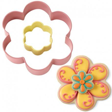Цветок большой и цветок маленький Форма для вырезания печенья Wilton ( Вилтон )