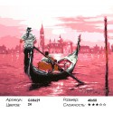 В розовом свете (художник Ричард Макнейл) Раскраска картина по номерам на холсте