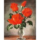 Красные розы Раскраска картина по номерам акриловыми красками на холсте