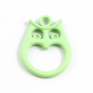 Сова светло-зеленая Подвеска металлическая для скрапбукинга, кардмейкинга