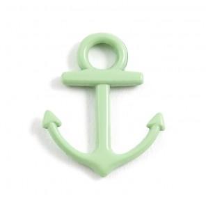 Якорь светло-зеленый Подвеска металлическая для скрапбукинга, кардмейкинга