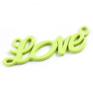 Love лайм Подвеска металлическая для скрапбукинга, кардмейкинга