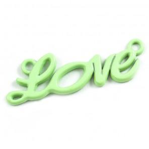 Love светло-зеленая Подвеска металлическая для скрапбукинга, кардмейкинга