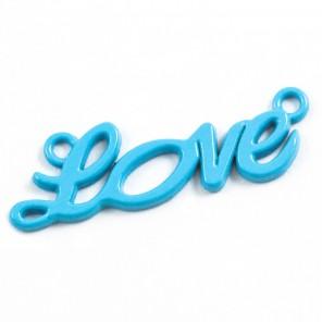 Love голубая Подвеска металлическая для скрапбукинга, кардмейкинга