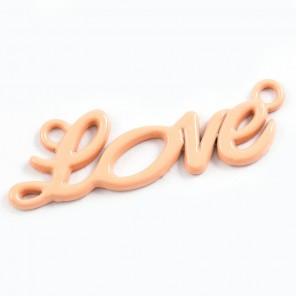 Love персиковая Подвеска металлическая для скрапбукинга, кардмейкинга
