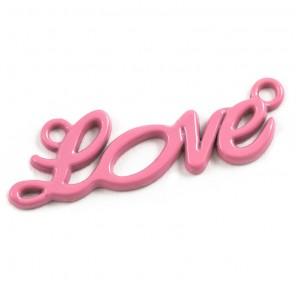 Love розовая Подвеска металлическая для скрапбукинга, кардмейкинга