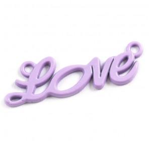 Love сиреневая Подвеска металлическая для скрапбукинга, кардмейкинга