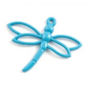 Стрекоза голубая Подвеска металлическая для скрапбукинга, кардмейкинга