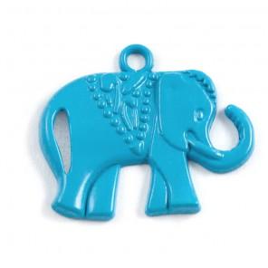 Слоник голубой Подвеска металлическая для скрапбукинга, кардмейкинга