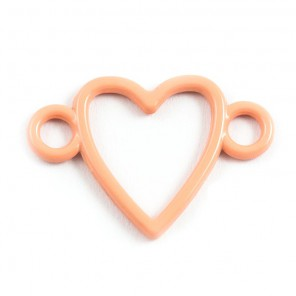 Сердечко персиковое Подвеска металлическая для скрапбукинга, кардмейкинга