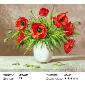 Количество и сложность Маки на столе Раскраска картина по номерам акриловыми красками на холсте