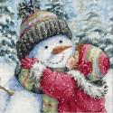 Поцелуй для снеговика 70-08833 Набор для вышивания Dimensions