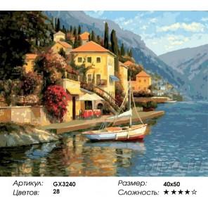 Город в горах Раскраска картина по номерам на холсте