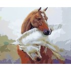 Лошадиная любовь Раскраска картина по номерам акриловыми красками на холсте