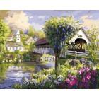 Вид на деревню Раскраска картина по номерам акриловыми красками на холсте