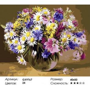Количество цветов и сложность Цветочная палитра Раскраска картина по номерам акриловыми красками на холсте