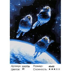 Полёт на Луну Раскраска картина по номерам на холсте